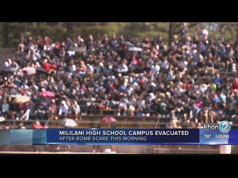 Bomb threat leads to evacuation at Mililani High School