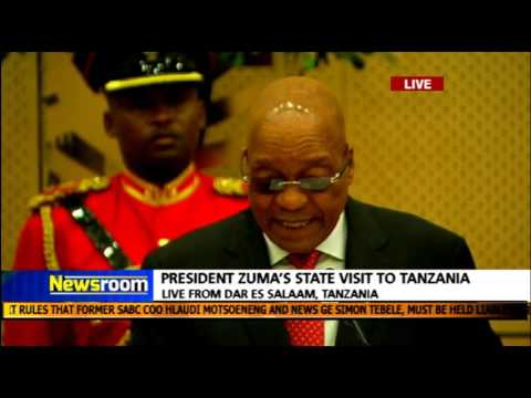 President Zuma address in Tanzania