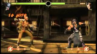 Mortal Kombat 9 - Kabal: Triple Ex gas blast combos