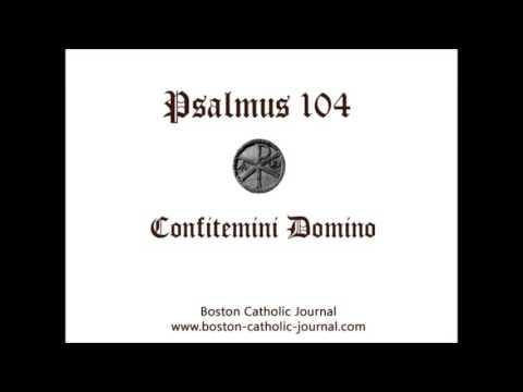 Psalm 104 In Latin