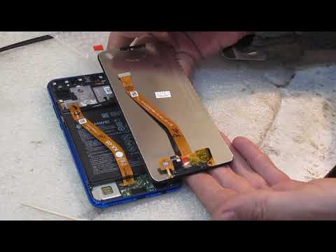 Huawei P Smart Plus замена  дисплейного модуля