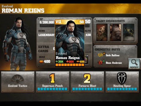 ROMAN REIGNS Evolved Review Update 2.0 WWE Immortals Android/IOS