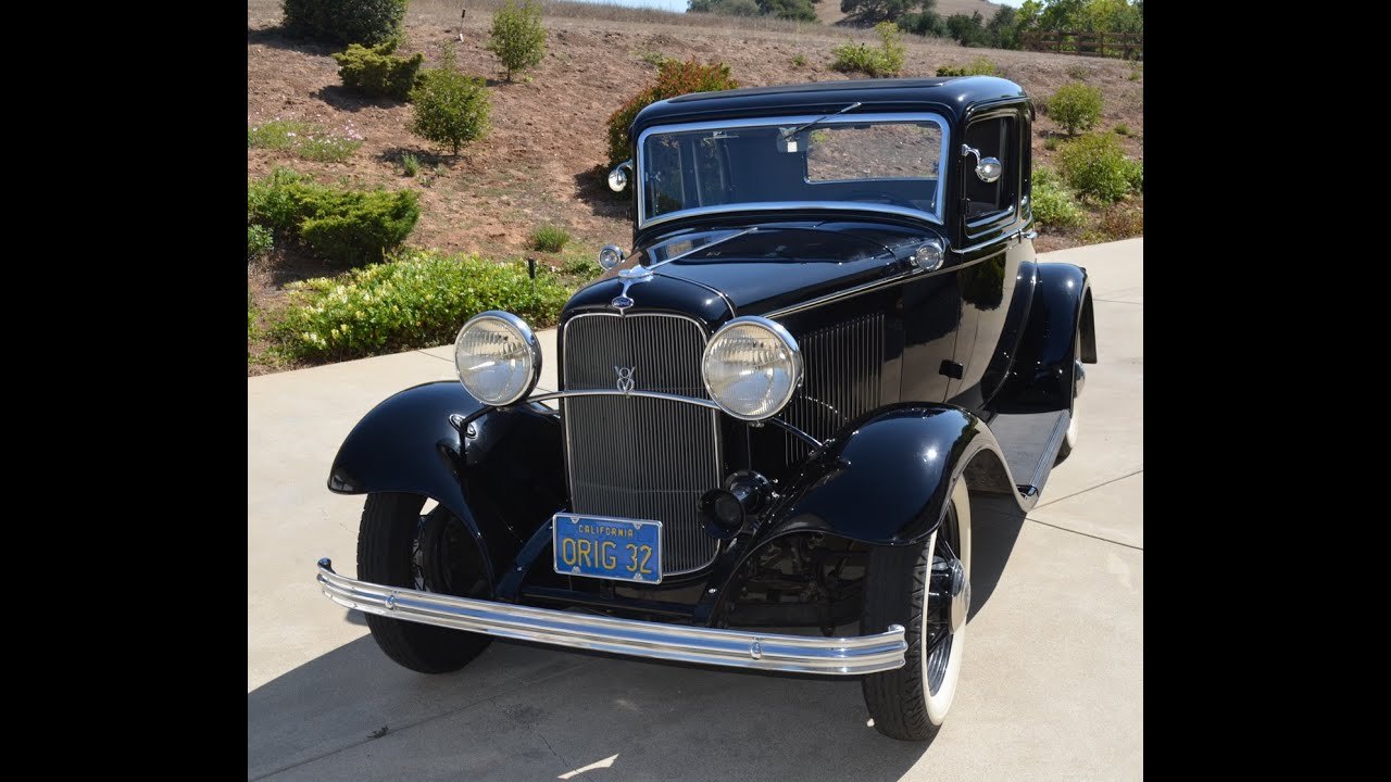 SOLD: Original 1932 Ford V18 5 Window Coupe, CA - YouTube