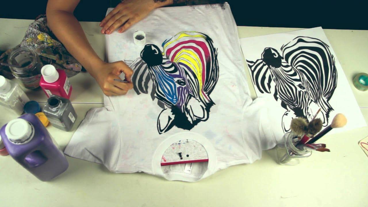 Zebra T Shirt DIY Custom hand painte...