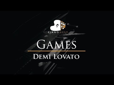 Demi Lovato - Games - Piano Karaoke / Sing Along / Cover with Lyrics