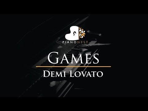 Demi Lovato - Games - Piano Karaoke / Sing Along / Cover with Lyrics
