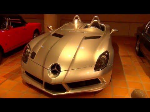 Prince of Monaco's Amazing Car Collection - SLR Stirling Moss, Countach, Ferrari F1 ...