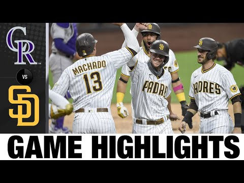 Balanced offense leads Padres to 14-5 win | Rockies-Padres Game Highlights 9/8/20