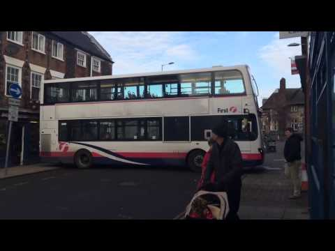 First Eastern Counties Bus  - Magdalen Street Roadworks Fail - www.ABSOLUTEREG.co.uk