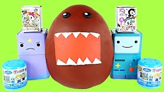 DOMO-KUN Frozen Fashems Adventure Time Tokidoki Unicorns Shopkins Huge Play Doh Surprise Egg