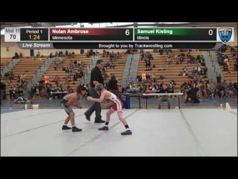 4037 Novice 70 Nolan Ambrose Minnesota vs Samuel Kisting Illinois 7863827104