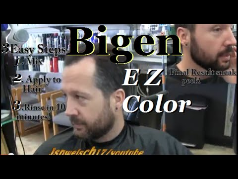 Bigen EZ Color hair color review video / Straight Razor Shave ...