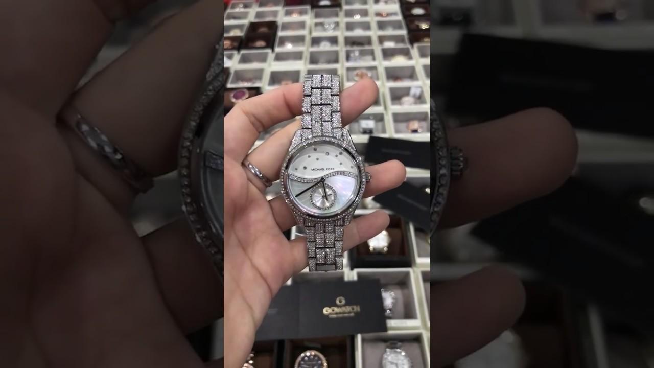 e36366dde5af Michael Kors MK3755 Lauryn Celestial Pavé Silver-Tone Watch - YouTube