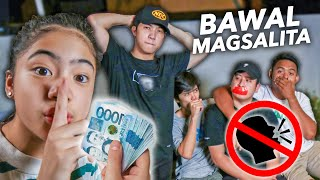 Last To TALK Wins CASH Prize!! (Bawal Magsalita Challenge) | Ranz and Niana