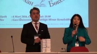 Alihan Bökeyhan ve Türk Dünyası Aydınları Uluslararası Konferansı 4 Mart 2016 Kitap tanıtımı