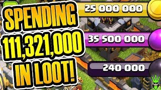 SPENDING OVER 110 MILLION LOOT IN THIS VIDEO! - TH12 Gem to Max -