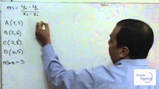 Comprobar un Paralelogramo mediante pendiente- SimpleAlgebra1