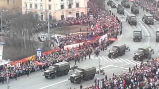 Парад военной техники на Параде Победы в Мурманске.(видео: Сергей Самогаров., 2015-05-09T09:36:07.000Z)