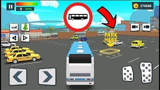 """Driving Academy """"JoyrideCar"""" Bus Drive Park Simulator - Android Gameplay Video #5"""