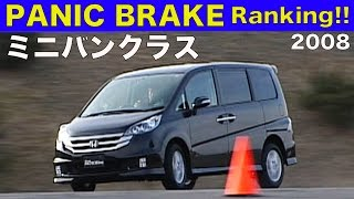 パニックブレーキランキング!! ミニバンクラス【Best MOTORing】2008 ENTRY CAR HONDA ODYSSEY ABSOLUTE HONDA STEPWAGON SPADA MITSUBOSHI ...