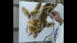 Atelier Meijer - Funny Animals airbrush - giraffe