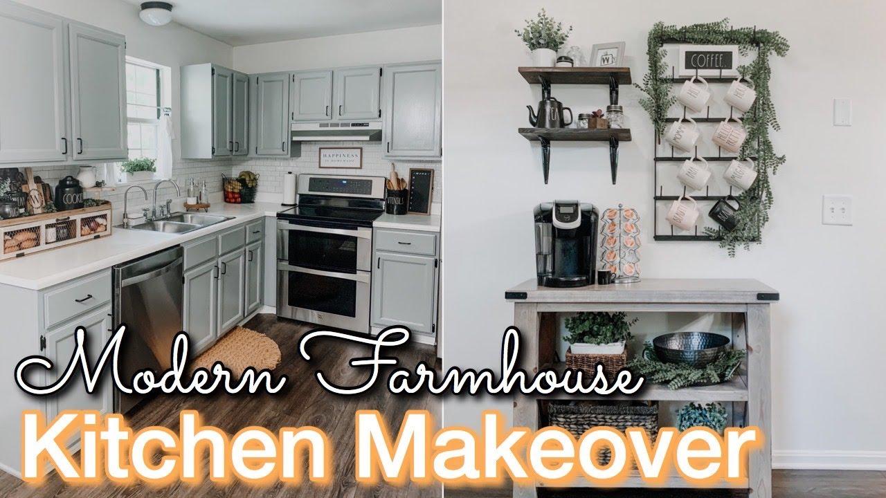 DIY SMALL KITCHEN MAKEOVER ON A BUDGET | Decorating Ideas | Modern Farmhouse Kitchen | Kitchen DIY