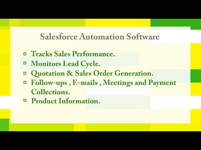 Advantages of Sales Force Automation Software - YouTube