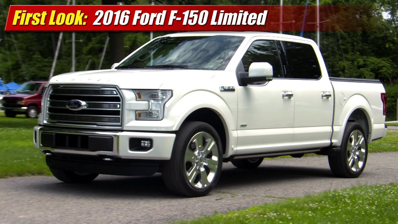 first look 2016 ford f 150 limited youtube. Black Bedroom Furniture Sets. Home Design Ideas