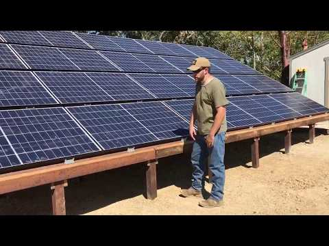 12.7KW Off Grid ground mount Solar install by Off Grid Contracting