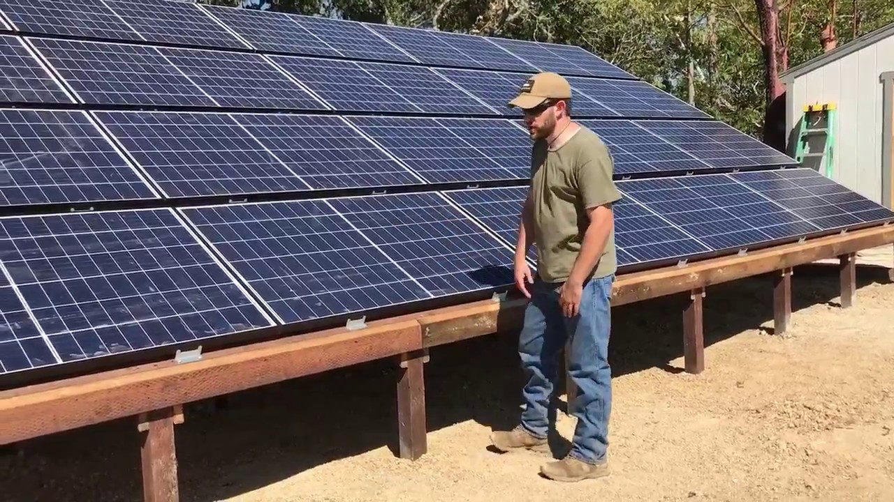 12 7kw Off Grid Ground Mount Solar Install By Off Grid