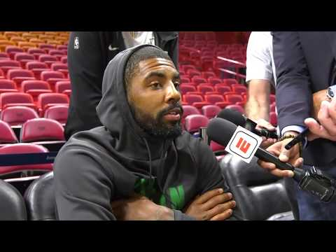 Kyrie Irving interview before Boston Celtics face Miami Heat | ESPN