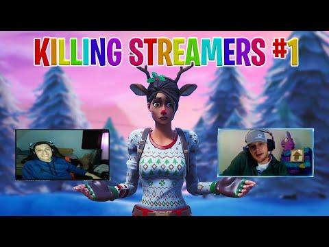 Killing Twitch Streamers #1 - Fortnite Battle Royale