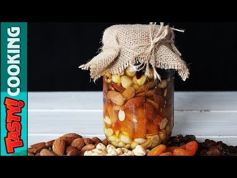 Mixed Nuts In Honey Recipe 🍯 Gift In A Jar Idea 🍯 Tasty Cooking Recipes