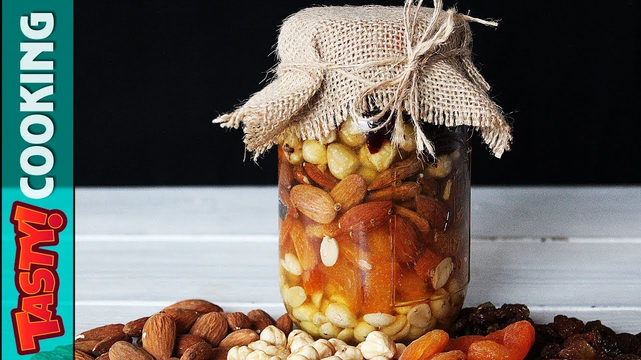 Mixed Nuts In Honey Recipe Gift In A Jar Idea Tasty Cooking Recipes Youtube