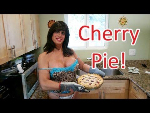 Sexy Rosie Girl Baking Again!...Tasty & Beautiful Cherry Pie!