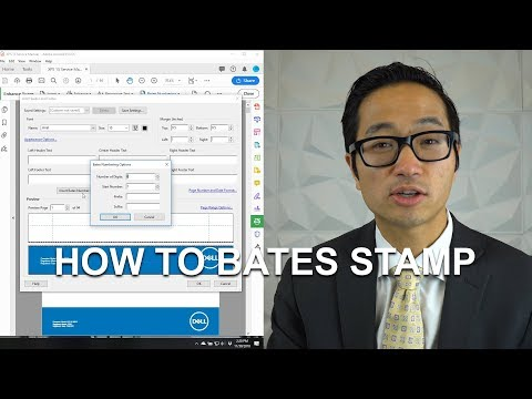 How To Bates Stamp - Adobe Acrobat DC