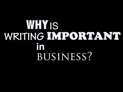 The Importance of Writing in Business