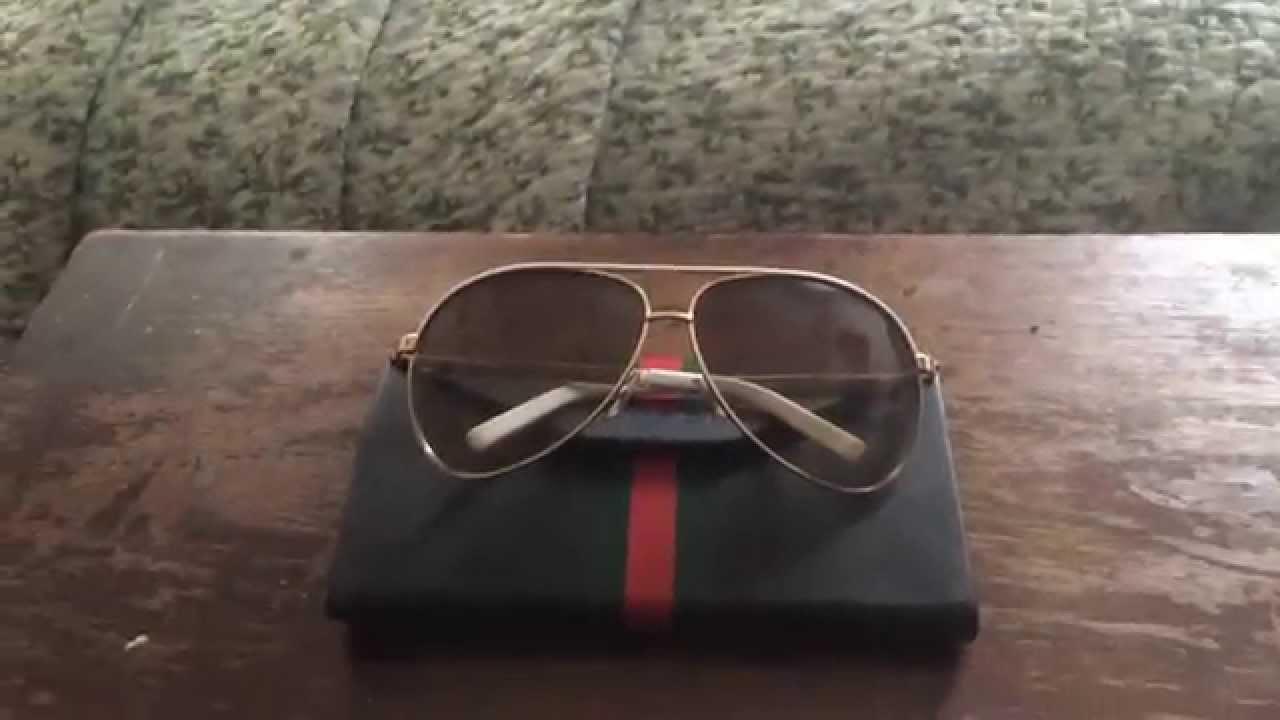 d483d30cf62b Gucci 1827/s Aviator Sunglasses Review - YouTube