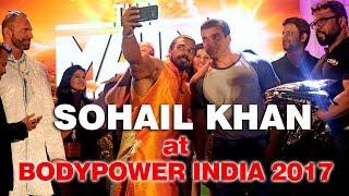 Sohail Khan Bollywood Star at Bodypower India 2017