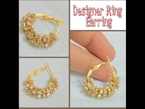 How To Make Ring Type Earring At Home - Tutorial - YouTube