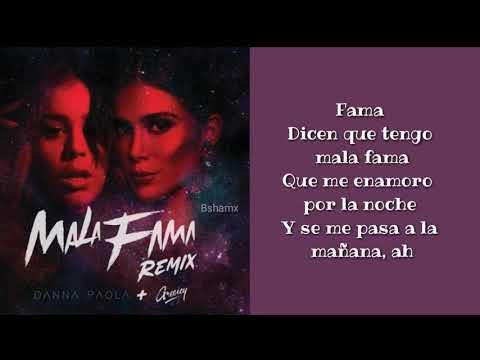 Danna Paola, Greeicy - Mala Fama Remix (Letra)