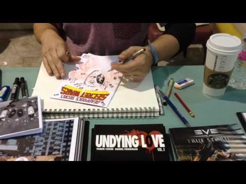 Tomm Coker draws DEADPOOL at SAC CON '15 (Pt. 1)