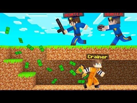 COP HUNTERS VS ROBBER SPEEDRUNNER In Minecraft!