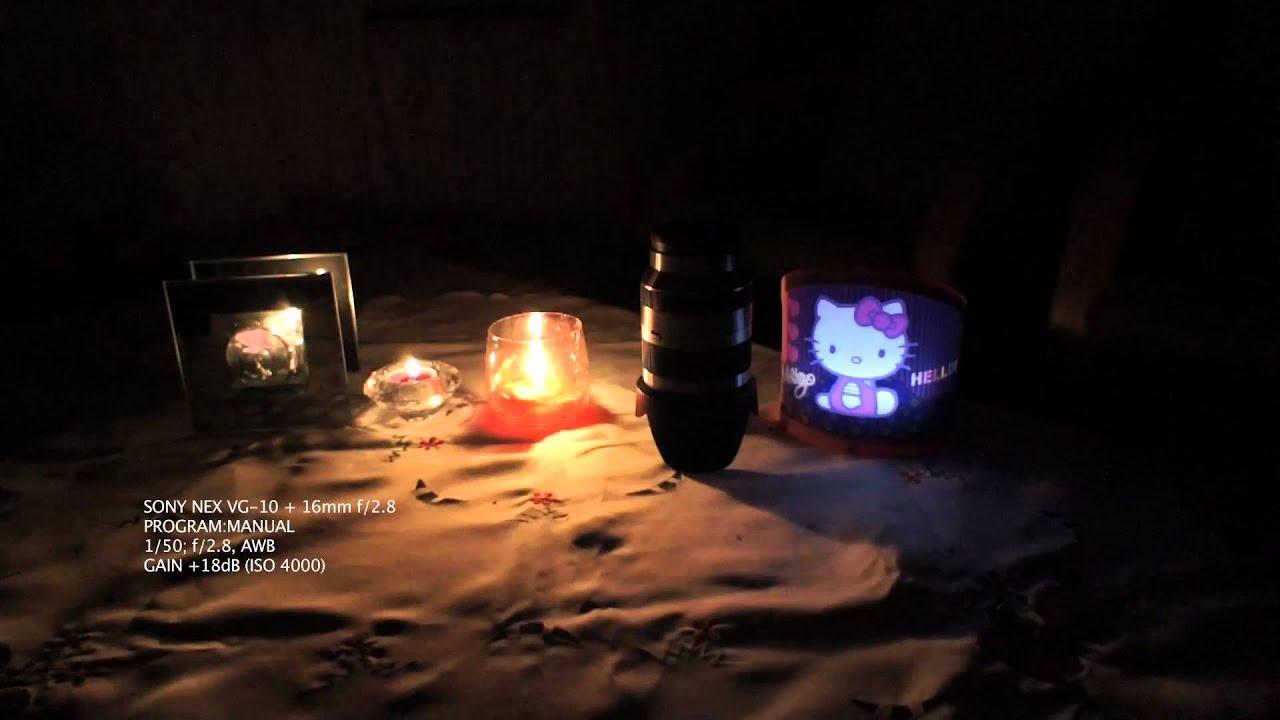 SONY NEX VG-10 LOW LIGHT TEST