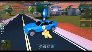 ROBLOX-Jailbreak-cop y su Jaguar