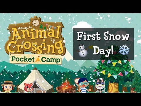 A Day in Animal Crossing: Pocket Camp | First Snow Day! ⛄️ ❄️✨
