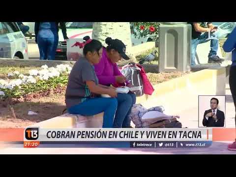 Cobran pensión en Chile pero viven en Tacna