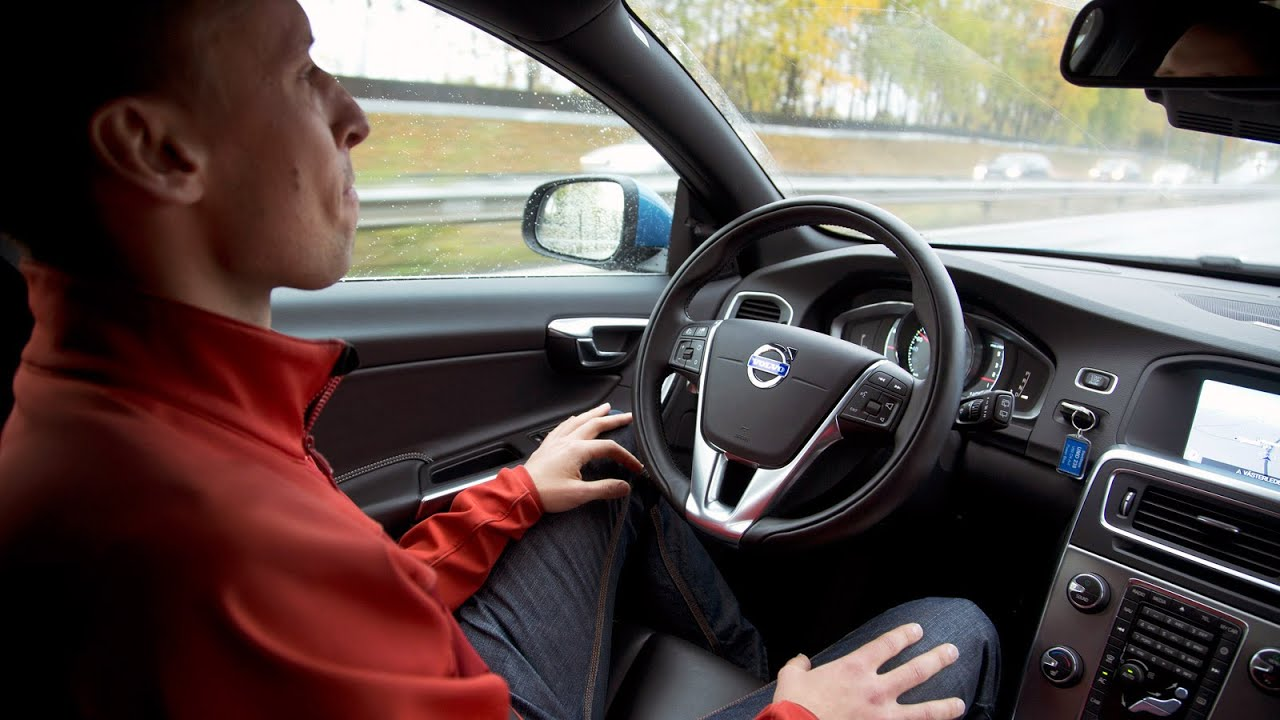 Test drive volvo self driving car volvo drive me autonomous