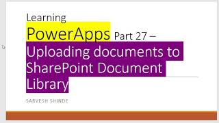 Upload document to SharePoint library from PowerApps