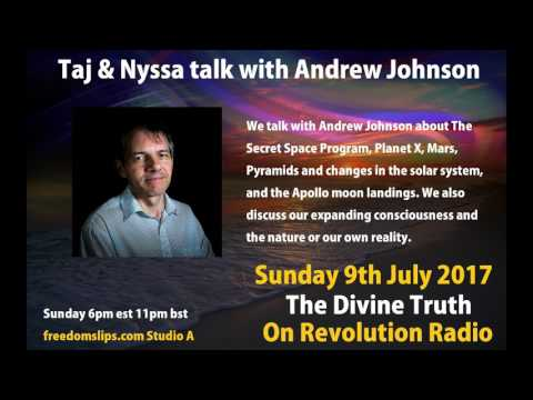 Taj & Nyssa talk with Andrew Johnson on The Divine Truth on